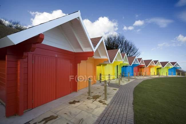 Colorful Beach Huts — Stock Photo