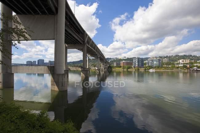 Bridge And Portland Waterfront — Stock Photo