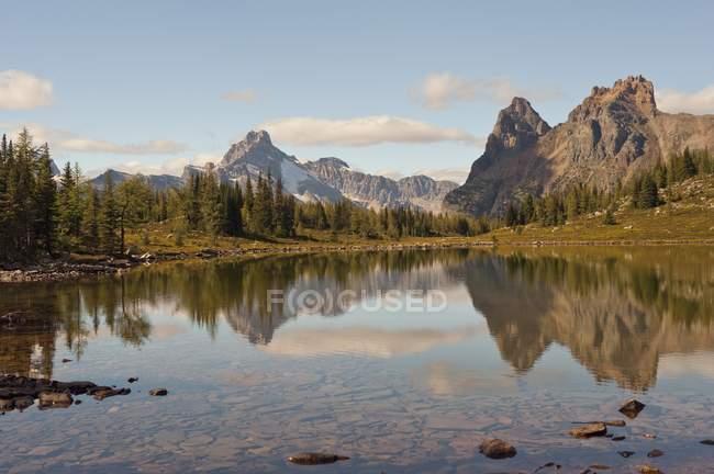 Lago sul Plateau di Opabin vicino a Lake o ' Hara — Foto stock