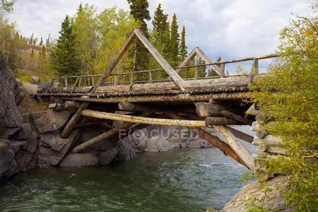 Frontier Bridge; Haines Junction — Stock Photo