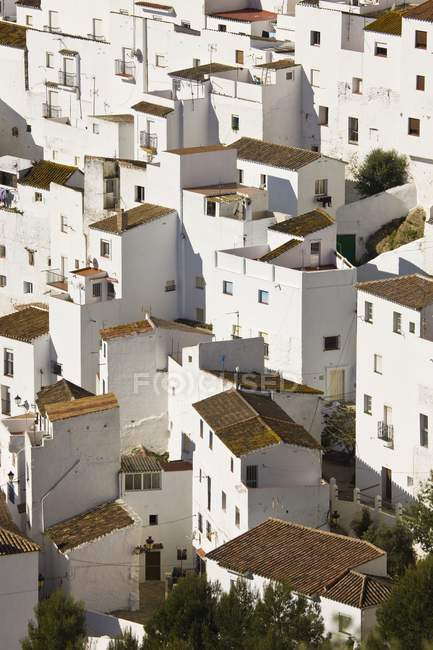 View of white buildings — Stock Photo