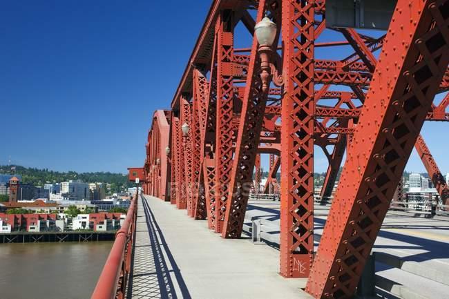 Broadway Bridge; Portland — Stock Photo