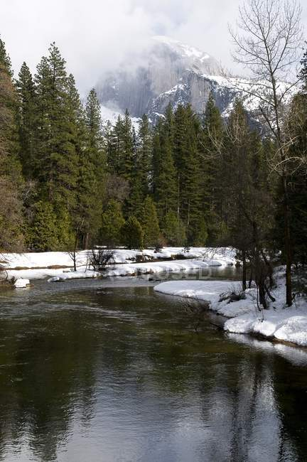 River In Winter Landscape — Stock Photo