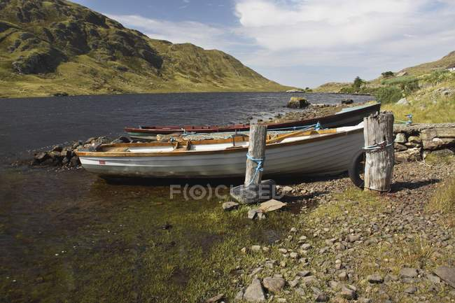Boat On Lough Fee — Stock Photo