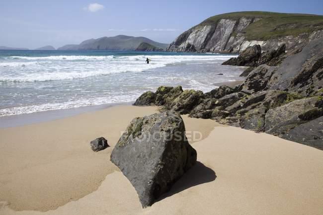 Praia de Coomenoole, na Península de Dingle — Fotografia de Stock