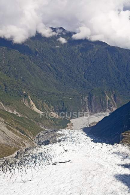 Glacier In Mountains Of New Zealand — Stock Photo