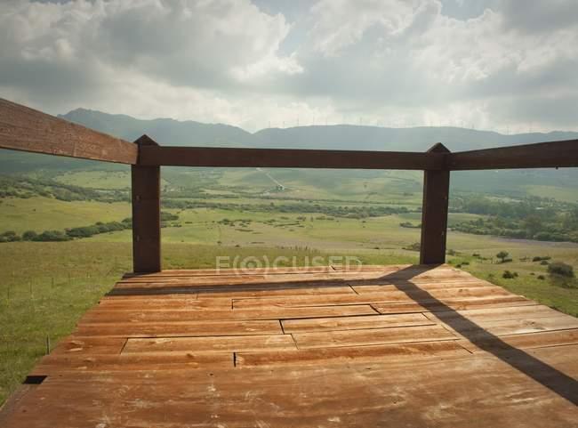 Terraço com vista para Valley — Fotografia de Stock