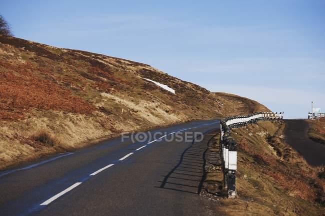 Asphalt Road with stripe — Stock Photo