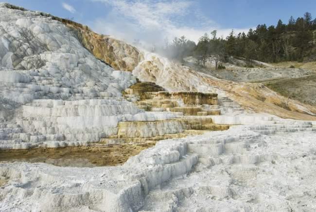 Rock With White Sediment — Stock Photo