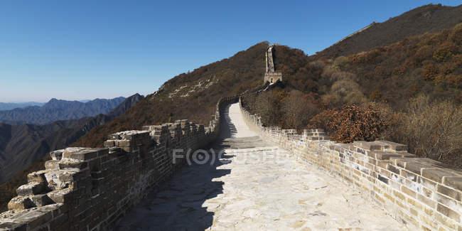 Mutianyu часть Великой китайской стены — стоковое фото