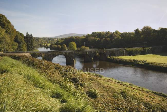 River Nore With Bridge Near Inistigue — Stock Photo