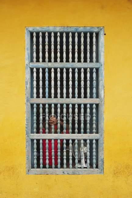 Facciata di casa cubana — Foto stock