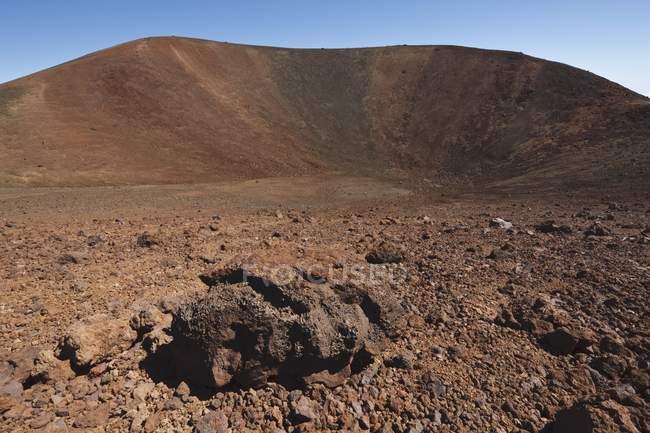 Pequena cratera vulcânica — Fotografia de Stock