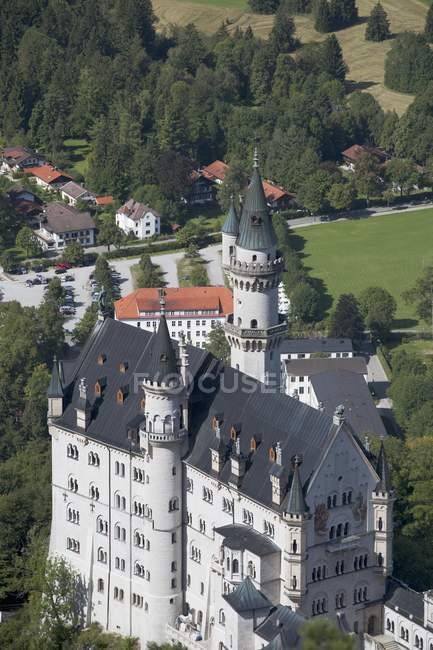 Bavarian Castle With Fields — Stock Photo
