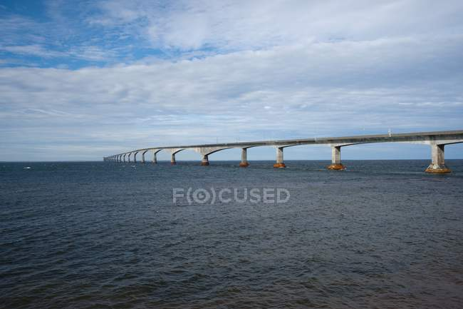 Confederation Bridge; Prince Edward Island — Stock Photo