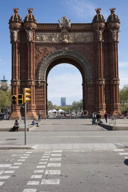 Arc De Triomf — Stock Photo
