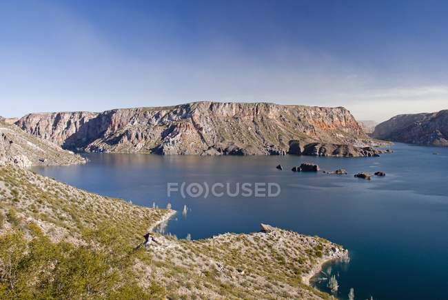 Lake In Caon Del Atuel — Fotografia de Stock