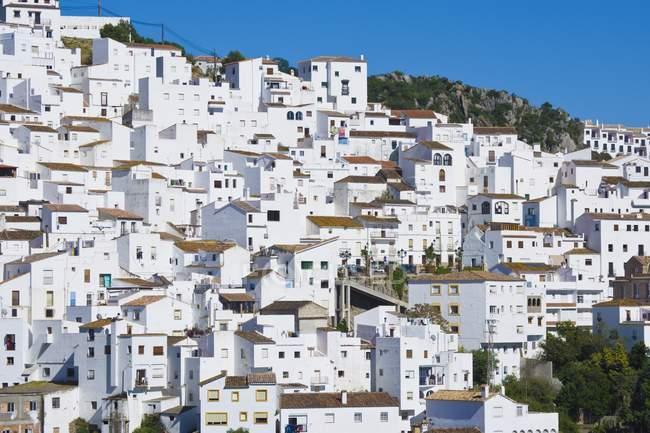 Перегляд з білим будівлях — стокове фото