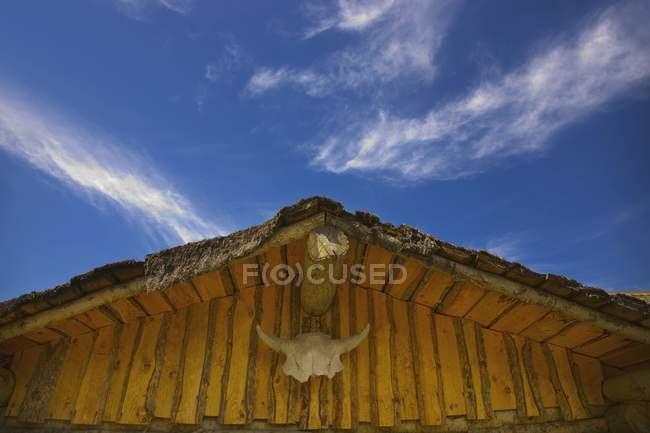 Крыша старого сарая — стоковое фото