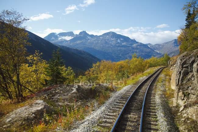 Chemin de fer le long de la White Pass and Yukon Route — Photo de stock