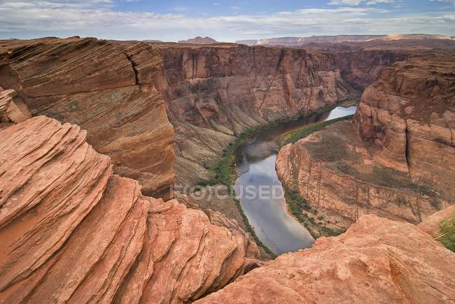 Колорадо-Ривер-At Horseshoe Bend — стоковое фото