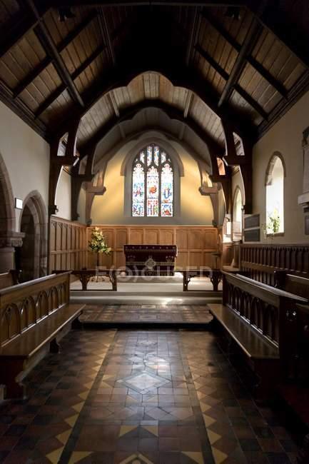 Innere der Kirche in England — Stockfoto