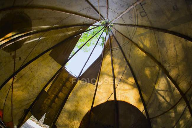 Teepee Interior during daytime — Stock Photo