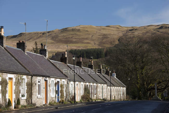 Row Of Houses Along Street — Stock Photo