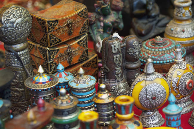 Various Handicrafts Displayed — Stock Photo