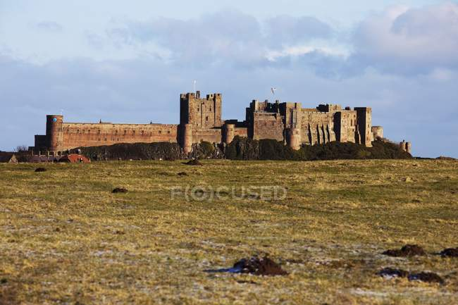 Ruined  Castle on field — Stock Photo
