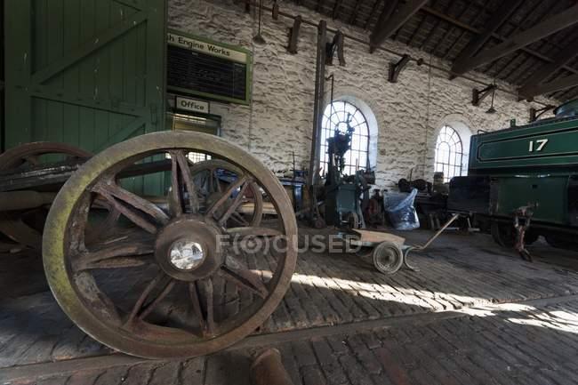 Колесо vintage перевезення в історичному місці в Beamish, Дарем, Англія — стокове фото