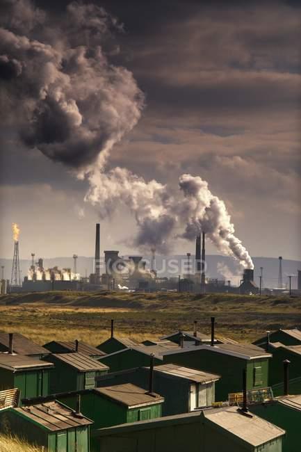 Teesside нафтопереробний завод, Англія — стокове фото