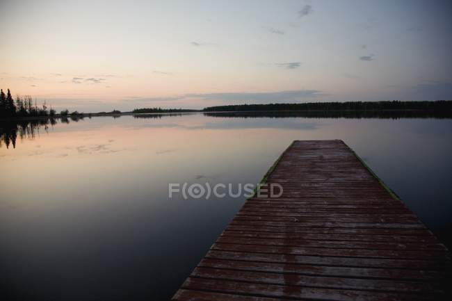 Dock Going out to Anglin Lake — стоковое фото