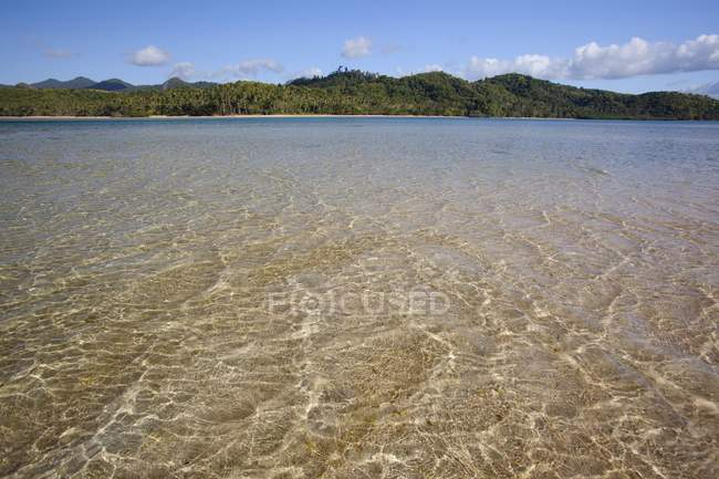 Shallow Water with sand on floor — Stock Photo