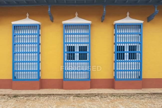 Facciate della casa cubana — Foto stock