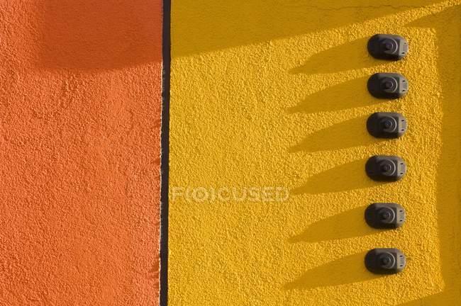 Orange And Yellow Door — Stock Photo