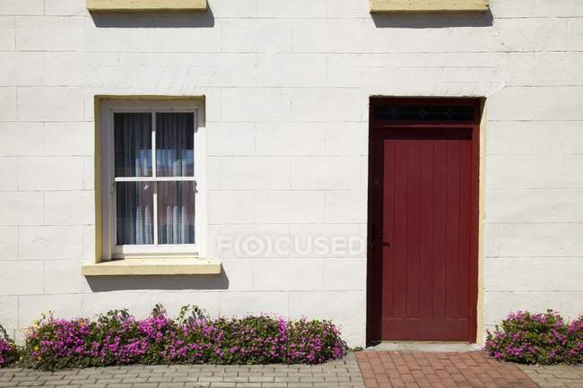 House With Red Door — Stock Photo