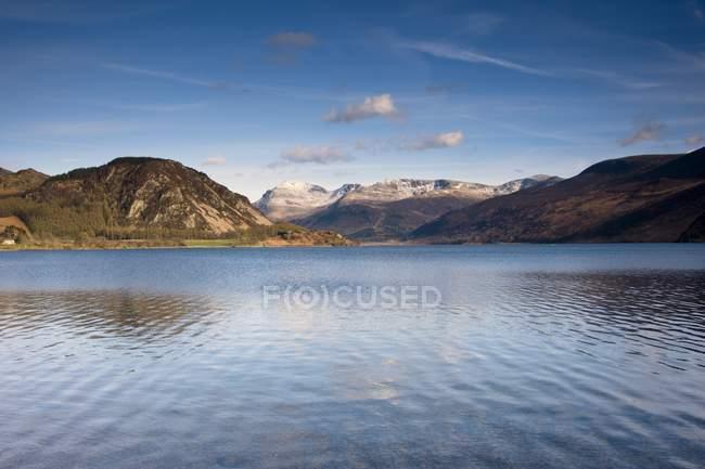 Montagne e lago, Cumbria — Foto stock