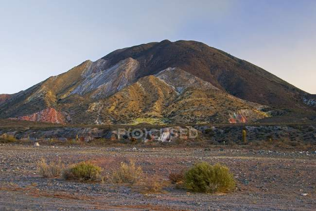 Hills With Colorful Rock — Stock Photo