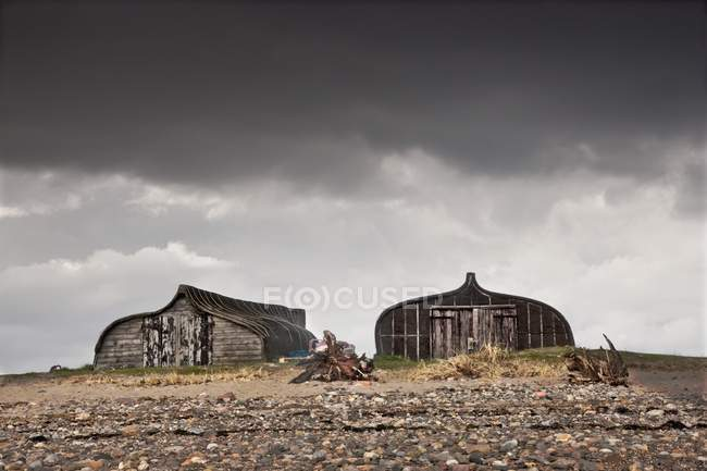 Two Old Wooden Buildings — Stock Photo