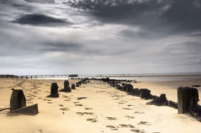 The Beach, Humberside, Inglaterra - foto de stock