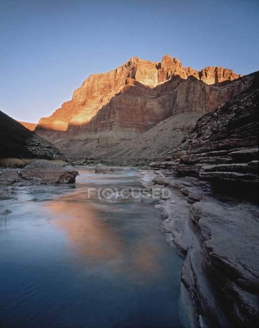 Chuar Butte Viewed From Little Colorado River — Stock Photo