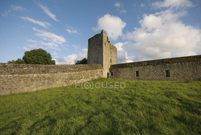 Stone Wall And Tower — Stock Photo