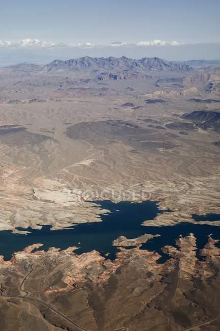 Аэрофотоснимок пустыни — стоковое фото