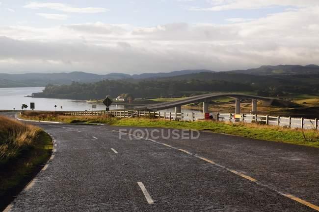 Road To New Modern Bridge — Stock Photo