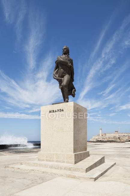 Статуя генерала Франсиско де Миранда — стоковое фото