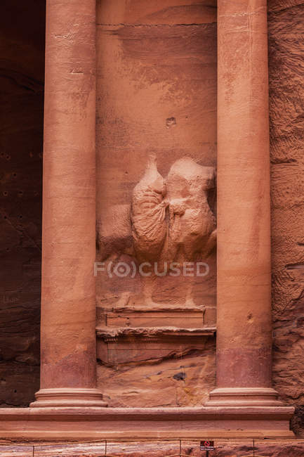 Carved Sandstone At Treasury — Stock Photo