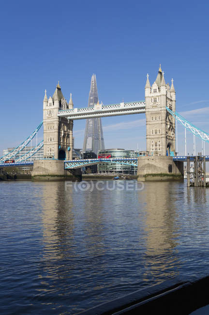 Tower Bridge no rio, Londres — Fotografia de Stock