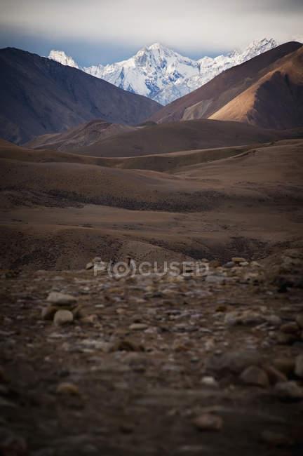 Schneebedeckte Berglandschaft — Stockfoto
