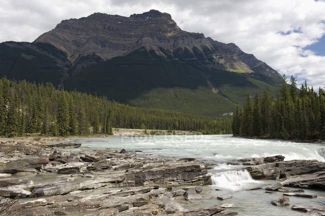 View of Athabasca falls — Stock Photo